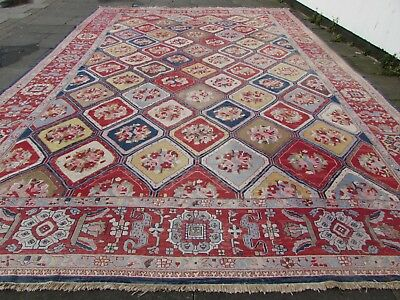 Old Traditional Hand Made Afghan Oriental Red Wool Large Somak Kilim 557x377cm