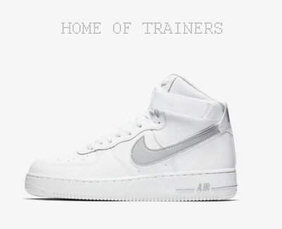 wholesale dealer 844dd 3e534 Nike Air Force 1 High  07 3 White Wolf Grey Men s Trainers All Sizes