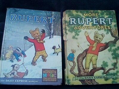 2 Rupert The Bear Annuals 1952 And 1967