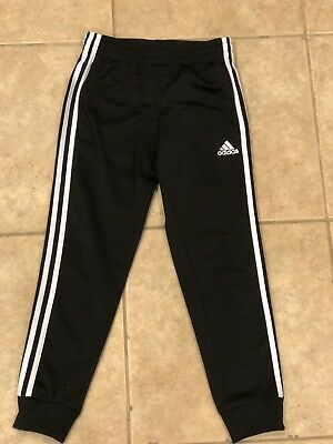 Adidas Black Jogger Pants Child Size Small 8