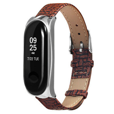 Replacement PU Leather Wrist Band Strap for Xiaomi Mi Band 3 Smart Bracelet