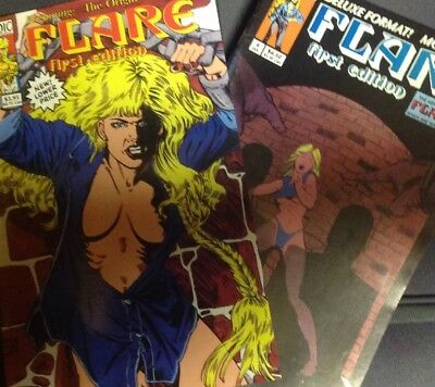 FLARE FIRST EDITION Nos. 4, 6 (1993) NM Heroic Publishing
