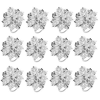 Amajoy 12PCS lega portatovaglioli con Delicately Hollow Out Flower (V5V)