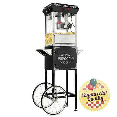 OPEN BOX - Vintage Style Popcorn Popper Machiner with Cart