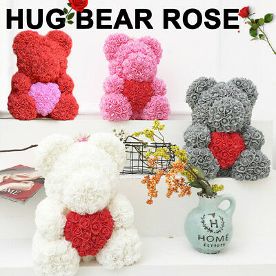 40cm 2019 Valentine Teddy Bear Roses Mother's Day Gift Luxury Rose Bear Dolls