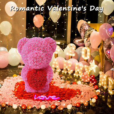2019 40cm Valentine Teddy Bear Rose Wedding Party Gift Mother's Day Rose Bear