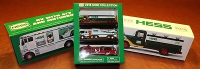Complete set of 2018 Hess Trucks (Miniature + Collectors Edition + Traditional)