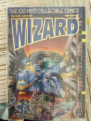 WIZARD THE GUIDE TO COMICS First Edition 100 Most Collectible Comics In Bag