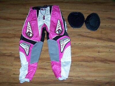 MSR MX RG2X Youth Motocross Pants Size 24 Pink/Black/White