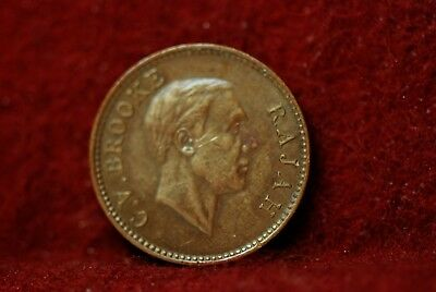 Sarawak, 1933-H 1/2 Cent, KM20, a/VF, cleaned, marks, NR,                   1-17