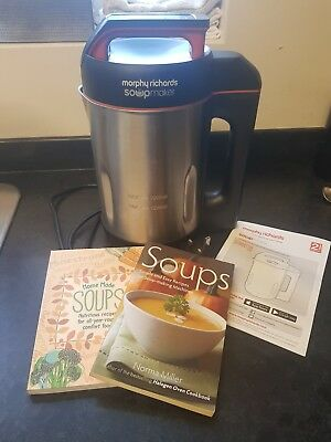 Morphy Richards Soup Maker 1.6L (501013) with 2 books
