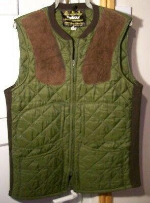 Barbour Green Quilted Gilet Shooting Hunting Bodywarmer Waistcoat Jacket Size M
