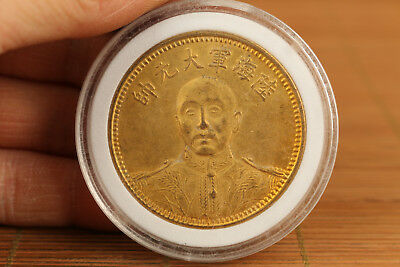 qing dynasty brass not gold revolution generalissimo coin collectable