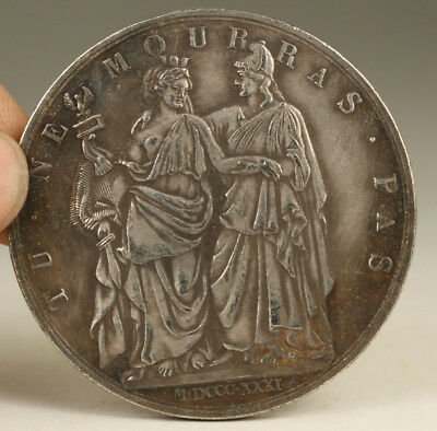 foreign currency cooper plate-silver Coin Collecrable Big Art
