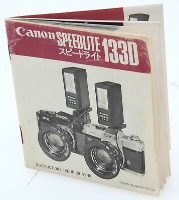 Canon Speedlite 133D Instruction manual English Japanese languages 935
