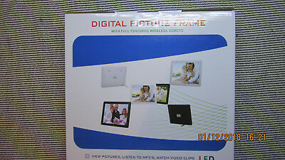 "12"" HD 16:9 LED Digital Photo Frame Picture Abulm MP4 MP3 Player Remote Control"