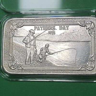 Fathers Day Mother Lode Mint 1 Troy Oz .999 Fine Silver Rare Ingot Bar Medal 999