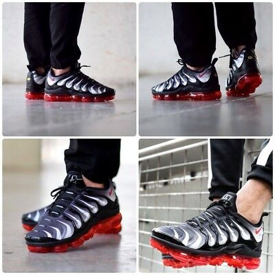4a1a8c14ea9 NIKE AIR VAPORMAX Plus Shark Bite Black And Red Size 8 RARE ...