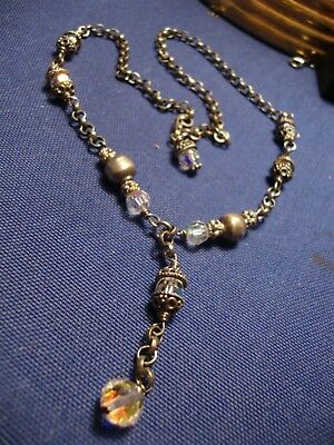 Grandmas Estate Old Pawn Sterling Silver Big Chunky Necklace