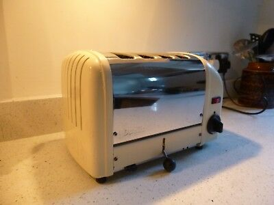 Dualit 4SLGB 4 slice kitchen toaster chrome cream stainless metal catering