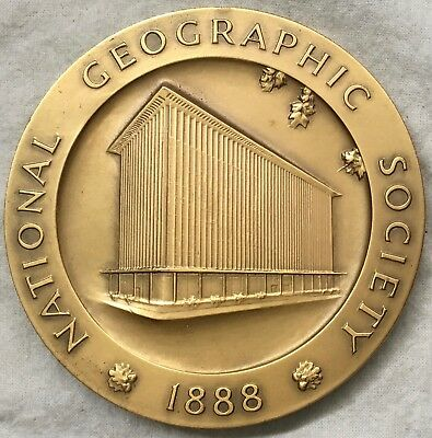 National Geographic Society 75th Anniversary, Building Dedication Medal, 1964