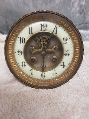 French Clock Movement non working selling as 0.99 p start with no reserve