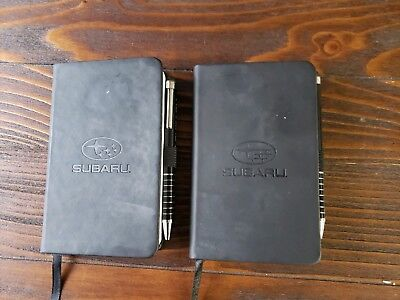 2 piece Subaru pocket size travel notebook set with matching pens