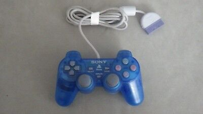 Official original SONY PS1 PlayStation 1 Dualshock Controller Blue