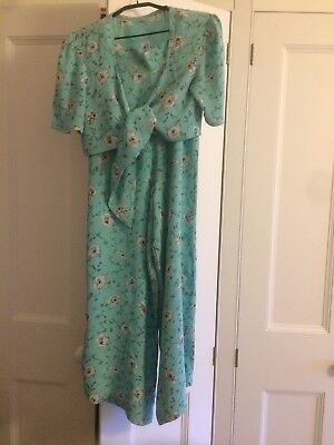Vtg 30s 40s 50s Hawaiian Style two piece Pant Suit Original Material