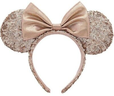 Disney Parks Rose Gold Minnie Mouse  Headband NEW With Tags
