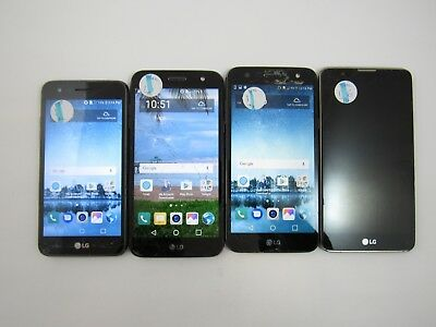 Lot of 4 Assorted Cracked LG Tracfone Check IMEI CR 3-1577
