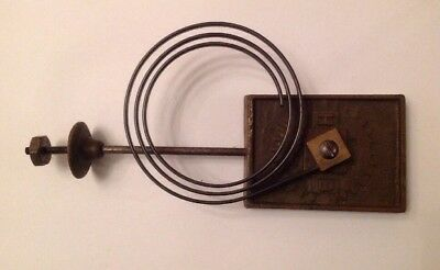 Antique Clock Chime Flat Wire Gong Marked HB Antique Clock Part 189x85mm