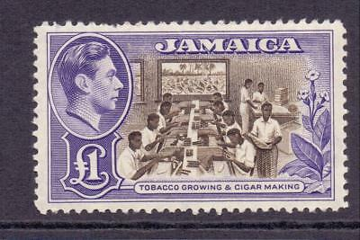 JAMAICA 1938-52 SG133a £1 Choc Violet KGVI High Value MNH Light Crease C/£60