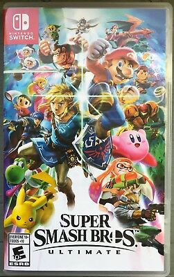 Super Smash Brothers Nintendo Switch Video Game