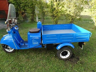 "Vintage old russian scooter Tula T200 ""Muravei"" (1968 year). Blue star."