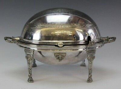 Antique William Hutton & Sons Silver Plate Domed Roll Top Breakfast Warmer PKE