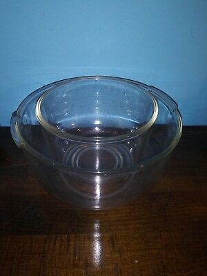 Vintage OSTER Regency Kitchen Center Clear Glass Mixing Bowls