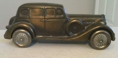 Banthrico's 1937 Packard V-12 Cast Metal Car Coin Bank-Collectible-Made in USA