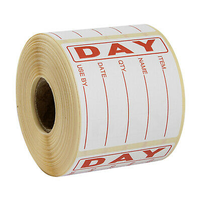 Food Hygiene Day Dot Food Label Best Before Labels Roll of 500 labels Red