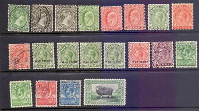 FALKLAND ISLANDS - A Collection of 20 QV to KGV Stamps Mint and Used Range