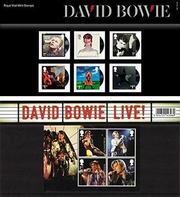 David Bowie GB 2017 Commemorative Stamps In Presentation Pack (Unmounted)