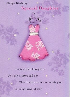 Special Daughter Birthday Greeting Card Second Nature Cards Flittered Glitter