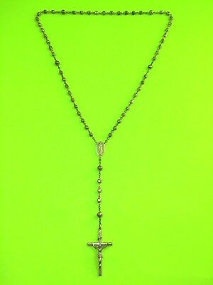 Antique Art Deco Sterling Silver Creed  Rosary 34 Grams Vintage! STERLING SILVER