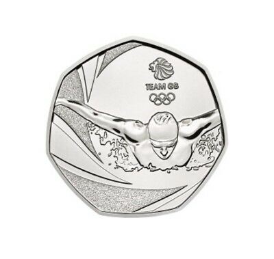 Team GB Olympic Swimming 50p Coin - Rare