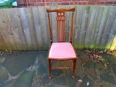 antique victorian/edwardian bedroom/hall chair for restoration/project.