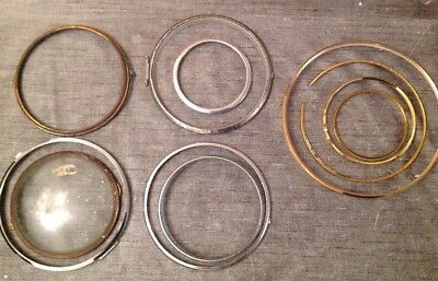Vintage Clock Bezel Collection Chrome And Brass  Spare Parts 90-200mm