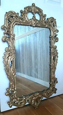 Stunning Large Antique Ornate Baroque Gold Gilt Mirror