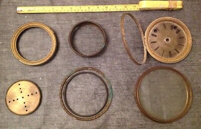 Antique Clock Bezel Collection Brass  From Clockmakers Spare Parts Collection