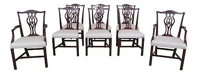 L46691EC: Set Of 8 BEACON HILL Chippendale Mahogany Dining Room Chairs