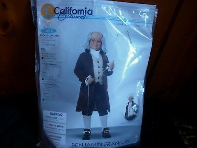 New Benjamin Franklin/Colonial Man Child Costume sz. 12-14 (California Costumes)